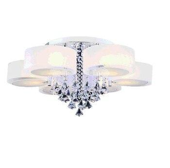 led e27 Nordic Stainless Steel Crystal  LED Lamp.LED Light.Ceiling Lights.LED Ceiling Light.Ceiling Lamp For Foyer Bedroom