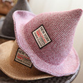 [DRESSUUP]Summer Hats for Women Straw Beach Hat Spire Witch Foldable Sunscreen Beach Cap sombreros mujer verano chapeu feminino