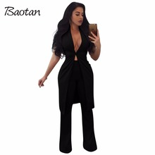 two piece set 2017 Autumn Winter 2 piece set women sexy suits women formal trouser professional business formal pants women suit