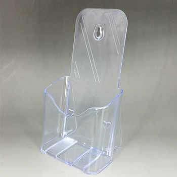 Clear Acrylic A6 DL Phamplet Pocket Plastic Brochure Literature Display Holder Stand To Insert Leaflet On Desktop 10pcs - DISCOUNT ITEM  15 OFF Education & Office Supplies