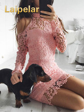 Women Summer Elegant Lace Floral Long Sleeve Party Evening Short Mini Dress Sexy Strapless Halter Sheath Skinny Mini Dresses floral print halter sheath dress
