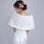 2017 New Arrival Branco/Vermelho Mulheres Do Casamento Do Inverno da Pele Do Falso Envoltório Nupcial Xaile Casamento Cape Casaco Frete Grátis Um tamanho Barato