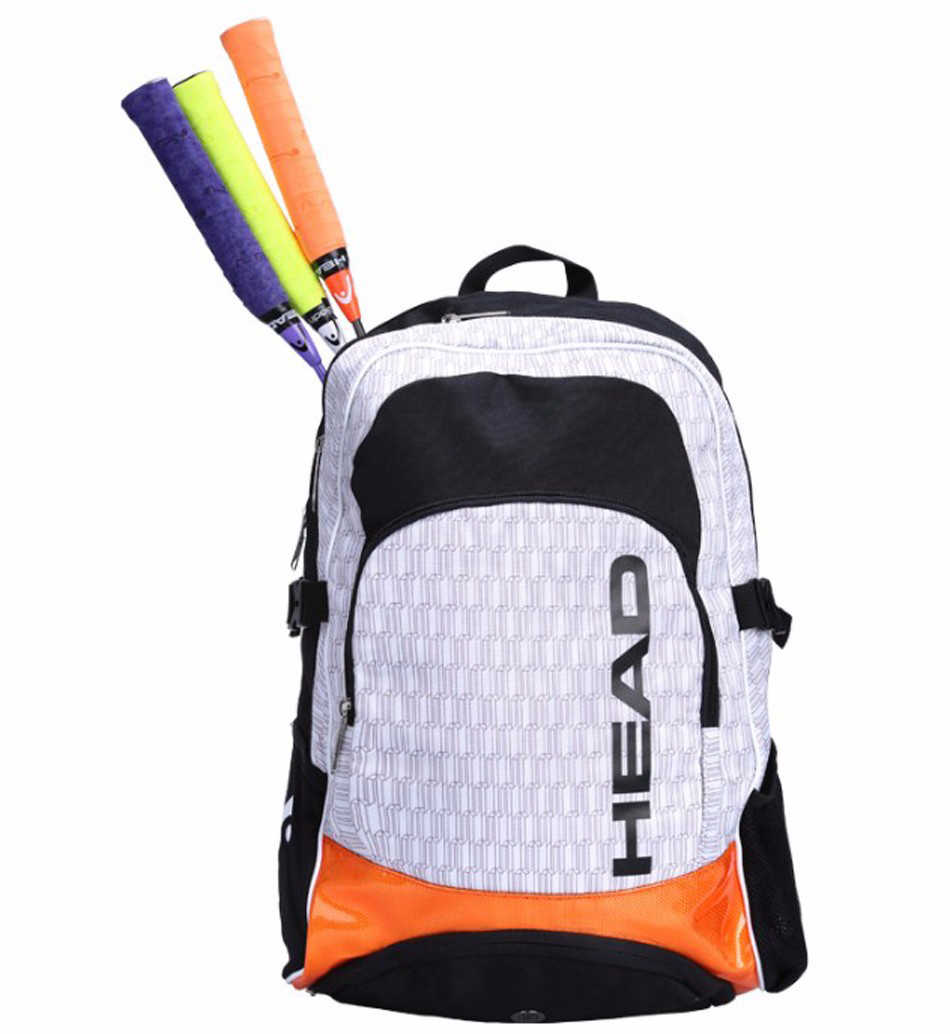 Original Head Tennis Backpack Racket Tennis Training Sports Bag Tennis Racquets Bag With Separated Shoes Bag Outdoor Tennis Bag