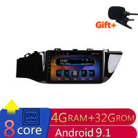 9 4G RAM 2.5D IPS 8 CORE Android 9.1 Car DVD Multimedia Player GPS for KIA Rio 4 K2 2017 2018 car radio navigation Builtin WIFI