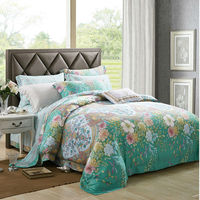 2018 New Arrival 100% Tencel Bedding Set and Lyocell Silk Naked Sleeping Smooth Four Pieces of Duvet Cover Set Reactive Printing