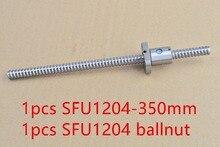 Диаметр 12 мм ШВП RM1204 винт длина 350 мм и SFU1204 шариковая гайка с ЧПУ гравировка машины 1 шт.