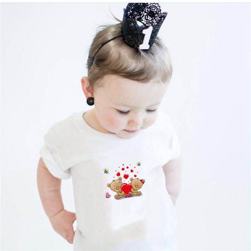 Prajna Thermal Stickers Iron On Transfer For Clothes Cute Bear Patch Heat Transfer Vinyl Applique Baby Tshirt Cartoon Patch Set in Patches from Home Garden