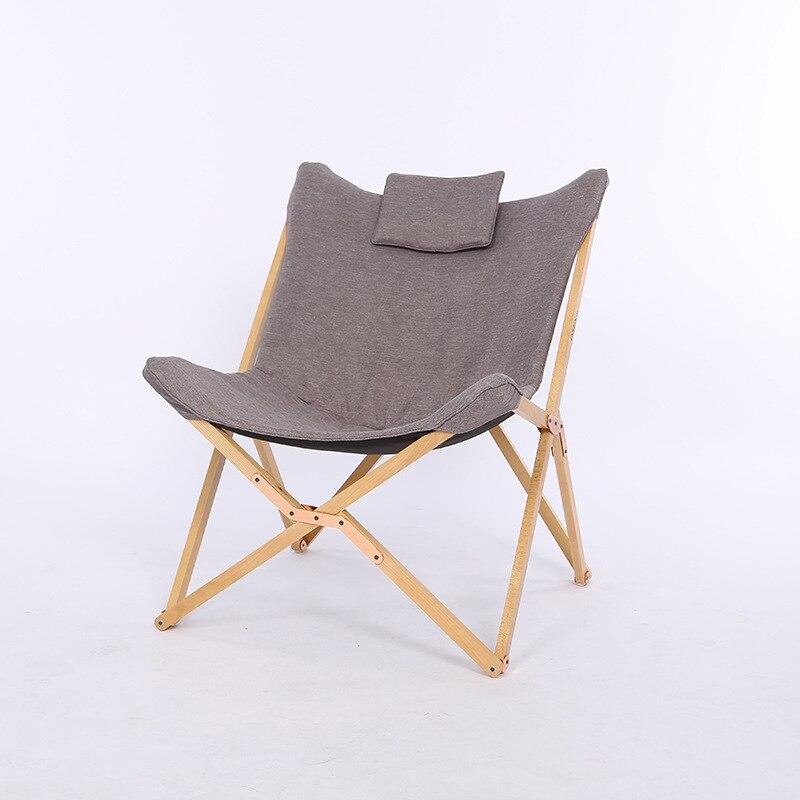 Moderne pliant papillon chaise Portable en bois massif extérieur balcon plage papillon chaise loisirs chaise Camping chaise pliable
