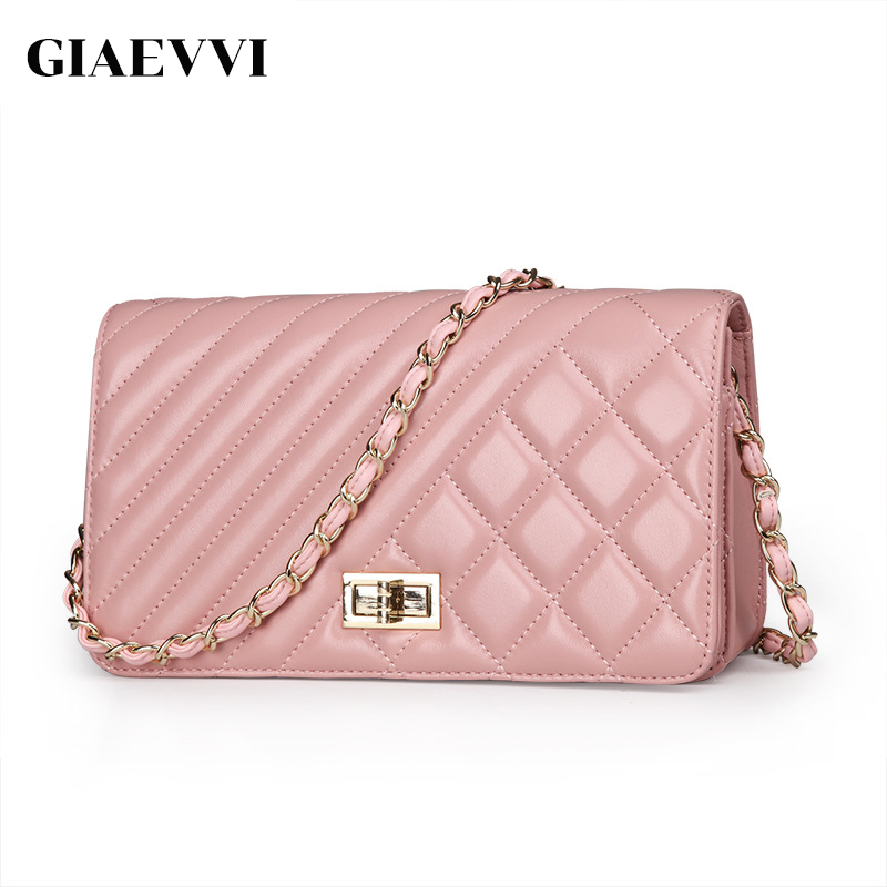 GIAEVVI High Quality Genuine Leather women shoulder bag Mini crossbody bag 2017 Brand design women Messenger bags fashion Chain giaevvi luxury handbags split leather tote women messenger bags 2017 brand design chain women shoulder bag crossbody for girls