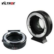 Viltrox Фокусное Редуктор Скорость Booster адаптер Turbo w/кольцо диафрагмы для Nikon объектив M4/3 камеры GH4 GH5 GF6 GX7 E-PL7 EM5 OM-D