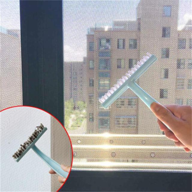 1 Cái Nhựa Màn Chống Muỗi Bàn Chải Vệ Sinh Cửa Sổ Vô Hình Màn Hình Cửa Sổ Bàn Chải Vết Bẩn Cửa Sổ Rãnh Rửa Dụng Cụ