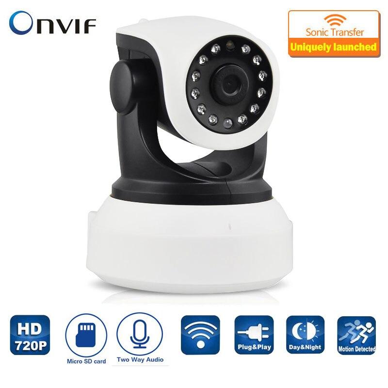 imágenes para HD 720 P Cámara IP de Seguridad Inalámbrica Wifi Ir-cortó la Visión Nocturna de Grabación de Audio de Vigilancia de Red Interior Del Monitor Del Bebé