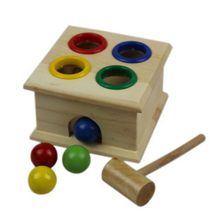Wood toy wooden toy Free shipping wooden educational toys wooden knock ball box