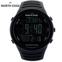 NORTH EDGE Fishing Altimeter Barometer Thermometer Altitude Men Smart Digital Watches Sports Climbing Hiking Clock Montre