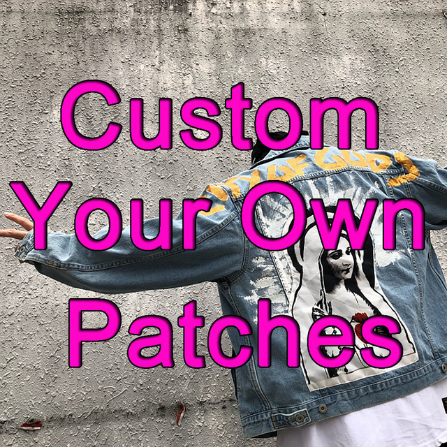 Custom Embroidered Patch For Clothing Jacket Iron On Patches With Your Logo  Diy Applique Fabric Military Tactical Biker Patches -in Patches from Home