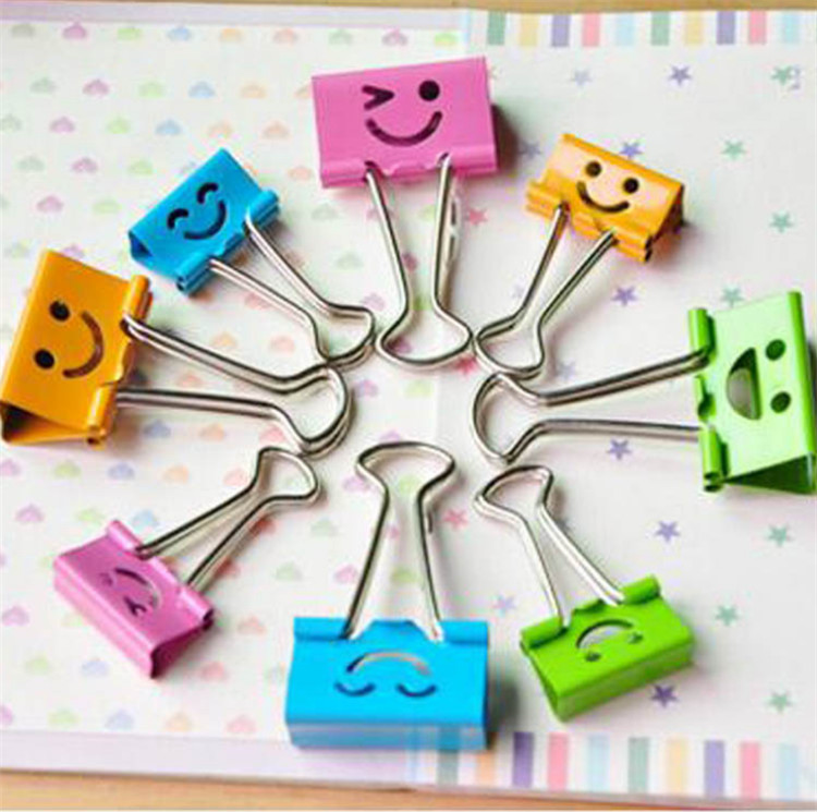 2000 Pcs School Supply Colorful Metal Mini Binder Clips Paper Clips Random Color