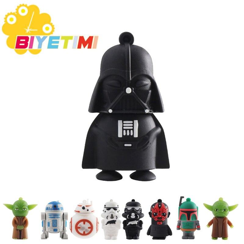Biyetimi Cartoon Pen Drive Star Wars Darth Vader 4GB 8GB 16GB 32GB Usb Flash Drive 64GB Usb2.0