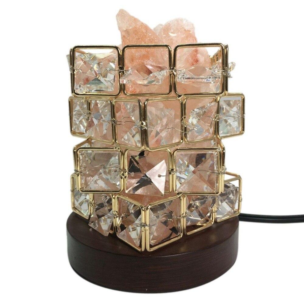 ICOCO Special Magic Cube Shape Healthy Life Himalayan Natural Crystal Salt Light Air Purifying Himalayan Salt Lamp for Bedroom