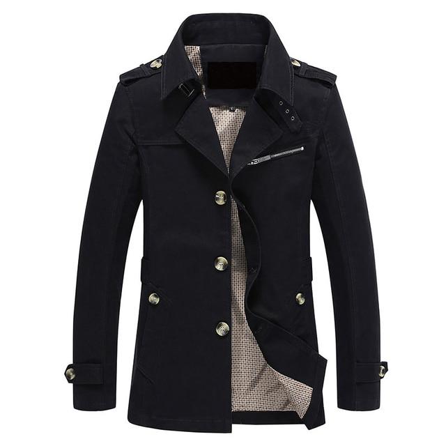 Мужчины Куртка Пальто Длинный Участок Моды Пальто Jaqueta Masculina Весте Homme Бренд Вскользь Fit Пальто Куртки Верхняя Одежда 5XL