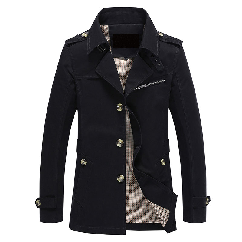 Men Jacket Coat Long Section Fashion Trench Coat Jaqueta Masculina Veste Homme Brand Casual Fit Overcoat