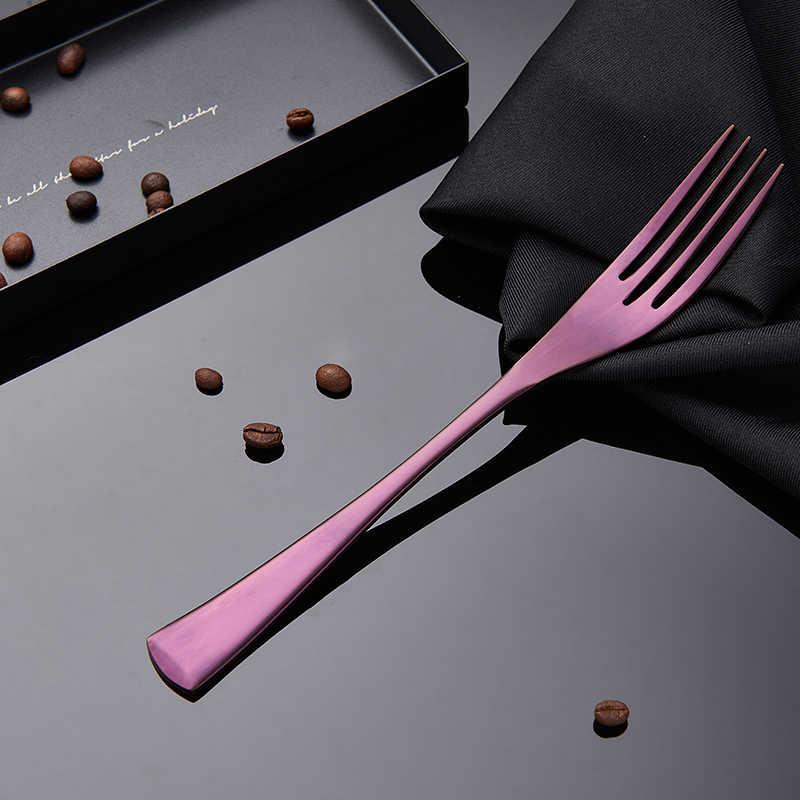 Spklifey ชุดช้อนส้อม 4Pcs สแตนเลส Western ชุดอาหารชุดส้อมมีดสเต็กชุดอาหารเย็นช้อนส้อมมีด