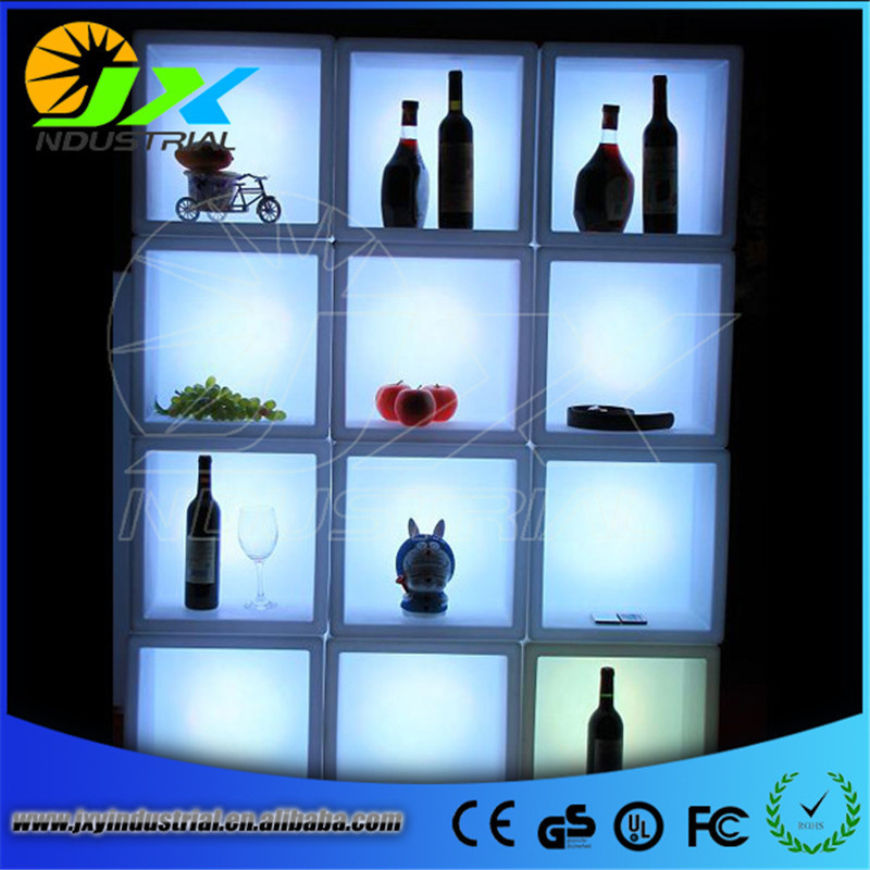 New product 1 piece single color rechargeable luminous 5L LED ICE Bucket champagne beer ice bucket for bars decoration