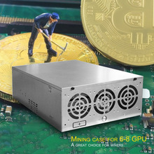 Open Air Mining Frame Rig Graphics Case GPU ATX Fit 6/8 Graphics Card Ethereum ETH ETC ZEC XMR Magnalium Alloy 12cm Fans Bitcoin