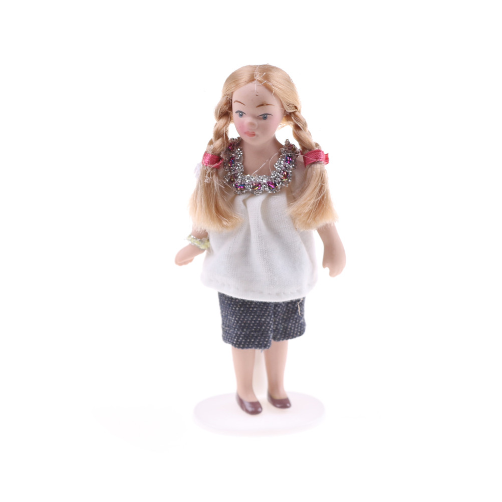 Cartoon Porcelain Doll Model Dress in Clothes Toy for Kids ...