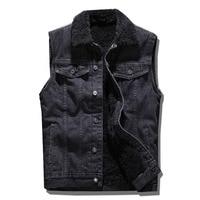 Denim jacket men Cotton Sleeveless Jeans jacket men Outerwear Coats Cowboy vest 2018 Autumn winter