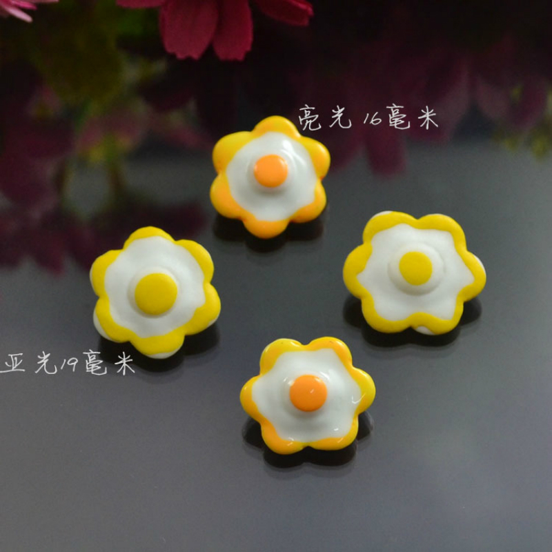 5PCS/LOT Doll Family for Dollhouse Cooking Game In The Kitchen Cartoon Lovely Resin Sun Fried Egg Plastic Happy Doll Family