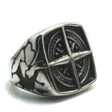 Restock Men Boy 316L Stainle Steel Punk Gothic Cool Compass