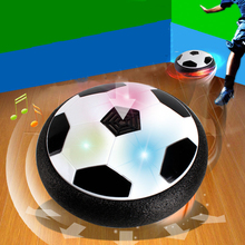 Creative Electric Suspension Soccer LED Air Cushion Football Light Up Toy Kids Boy Funny Indoor Play Game Toy For Birthday Gift