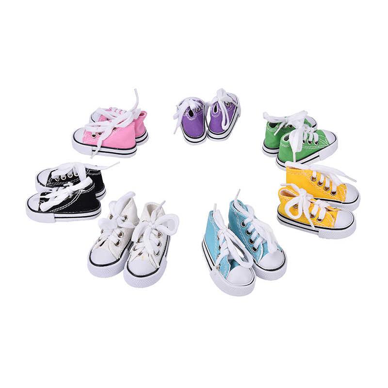 7.5cm toile chaussures pour 1/4 BJD poupée et Mini poupée chaussures et 16 pouces poupée bottes poupée accessoires couleurs assorties