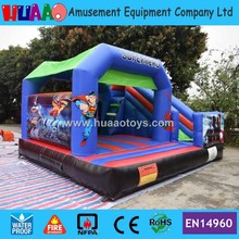 Free Shipping Super Hero Inflatable Bouncer Castle Combo with Slide