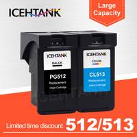 ICEHTANK PG512 CL513 Compatible Ink Cartridge For Canon PG 512 CL513 PG 512 PIXMA MP240 MP250 MP270 MP230 Printer Cartridges