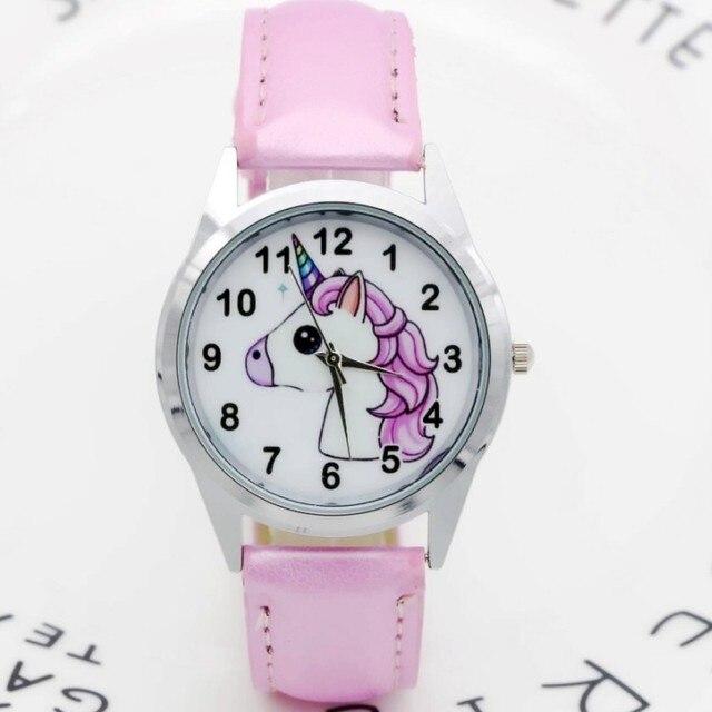 72c434822 Presente de natal Unicórnio Bonito da Menina do Menino Crianças Esportes  Relógio Geléia Relógio Dos Desenhos