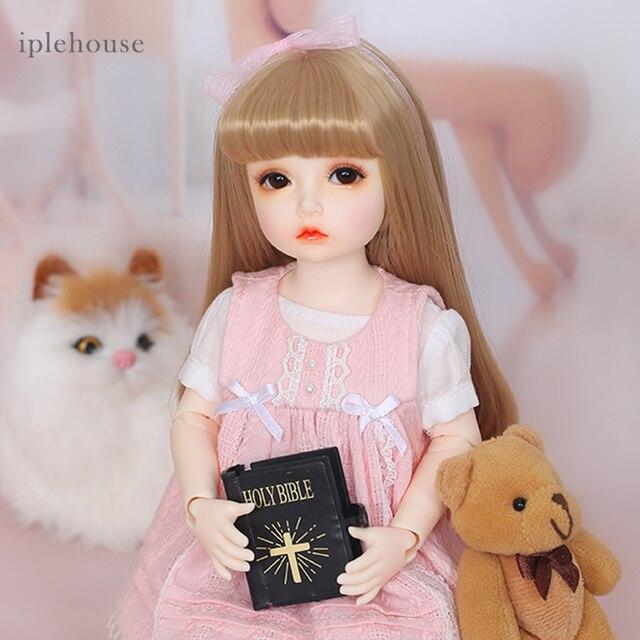 Free Shipping BJD Dolls Iplehouse Elin BID IP 1/6 Fashion cut High Quality Girl Toys Xmas Gifts Dollshe 1