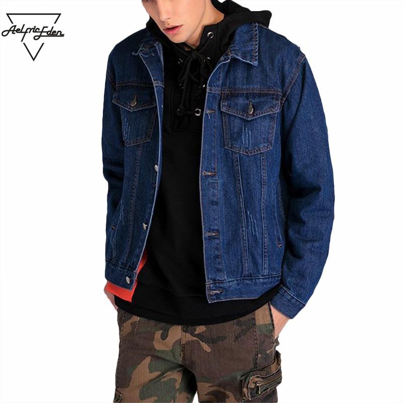 Aelfric Eden Jacket Men Flight Denim Jean Jackets Spliced Fashion Coat Winter Windproof Hip Hop Overcoat Man Safari Jacket PA201