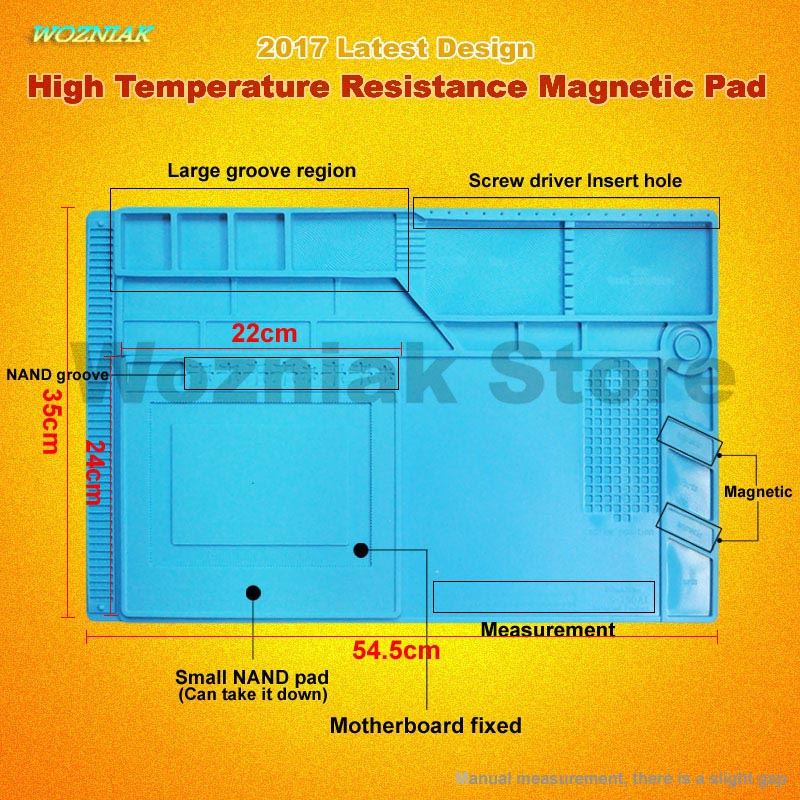 Wozniak Radio Magnetic High Temperature Resistant Silicone Antistatic Mat Rubber Gasket Of Mobile Computer Repair Insulation Pad