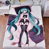 Japanese Anime Hatsune Miku Bed Bedding Sheet Sexy Bedsheet Manga Carpet 3d Fitted Duvet Covers Quilt Flannel Mattress
