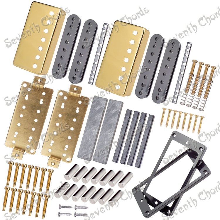 magnet iron seven strings lp electric guitar twin coils 7 holes pickup making accessories in. Black Bedroom Furniture Sets. Home Design Ideas