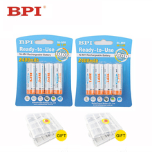 8Pcs Genuine Authentic Card Installed BPI AA NiMH Rechargeable Battery 2400mAh 2A Baterias for Camera
