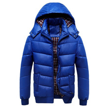 Winter Jacket Padded Thick Cotton 2017 Men Quilted Jacket Hooded Long Sleeve Warm Winter Jackets Men Down Cotton Wadded Coat