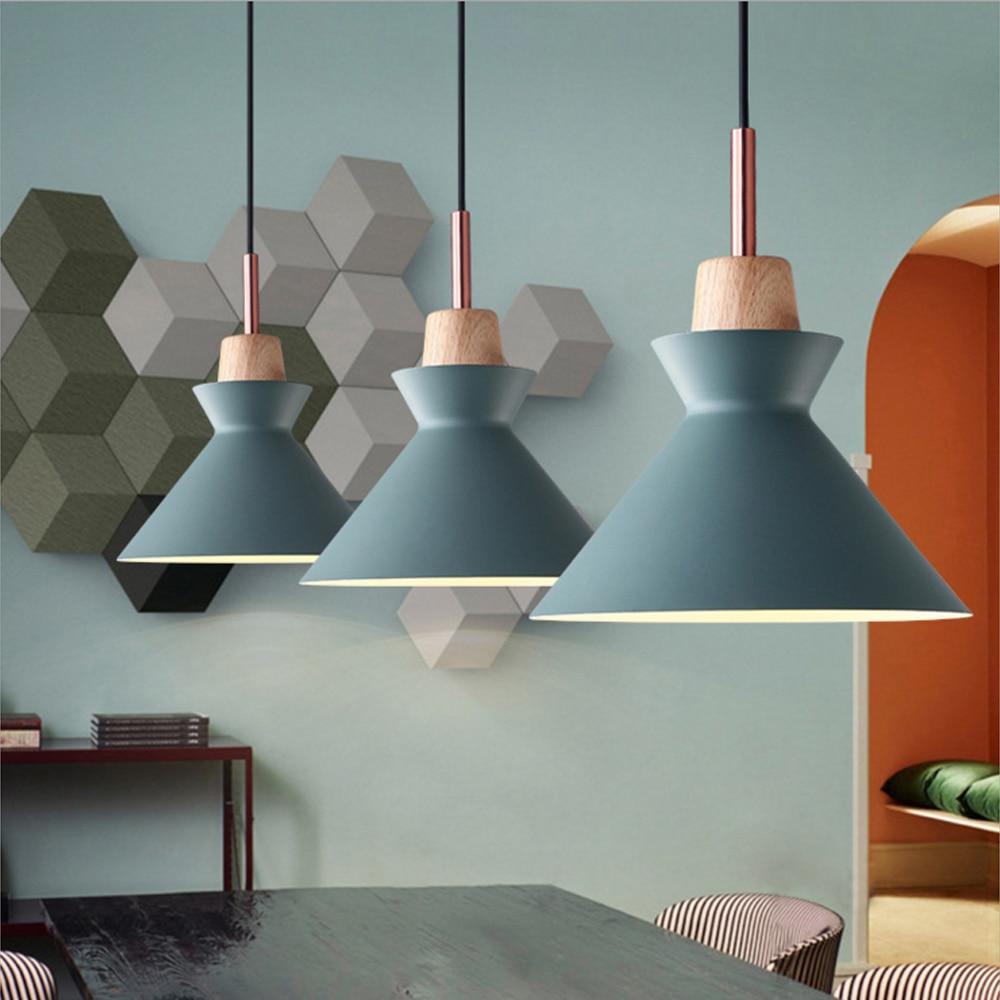 Wooden Blanks Lamp Pendant Lights Lustres Para Sala De Jantar  -> Abajour Para Sala De Jantar