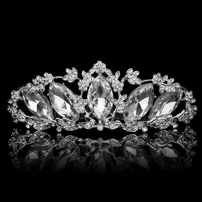 fashion vintage silver crystal hair comb wedding crown tiara hair accessories rhinestone hair jewelry bridal tiaras