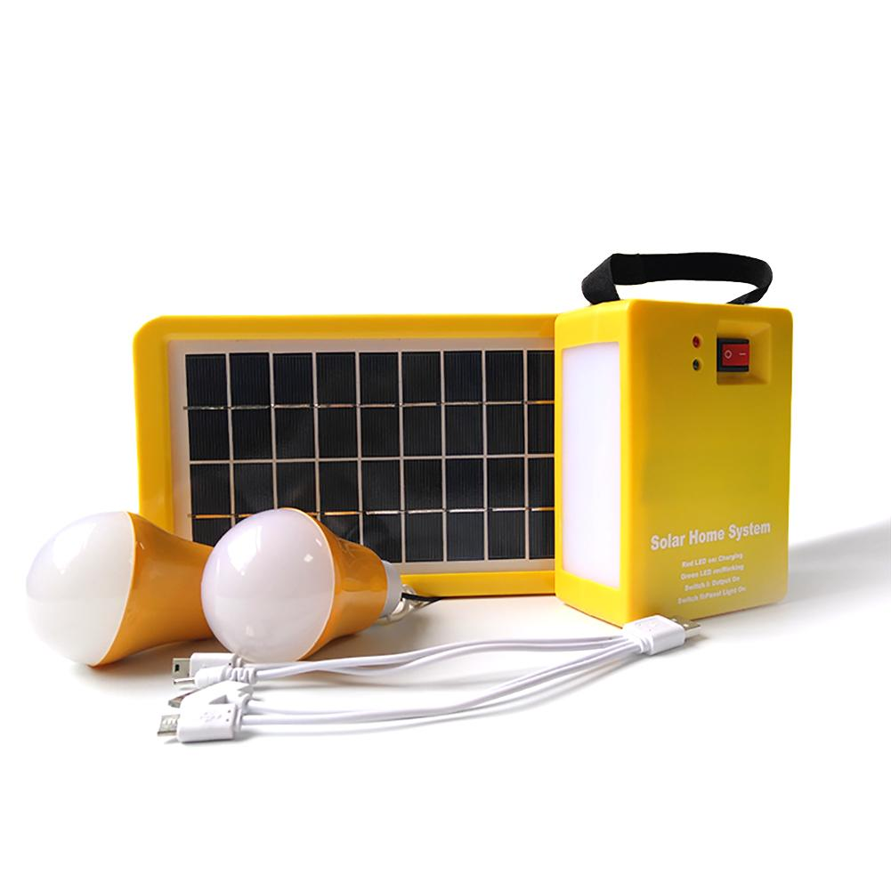 Portable Home Outdoor Small DC 5V 3W Solar Panels Charging Generator Power generation System 4Ah / 6V batteries Solar led light portable home outdoor solar panels charging generator power generation system 6v 3w lead acid batteries energy usb charger