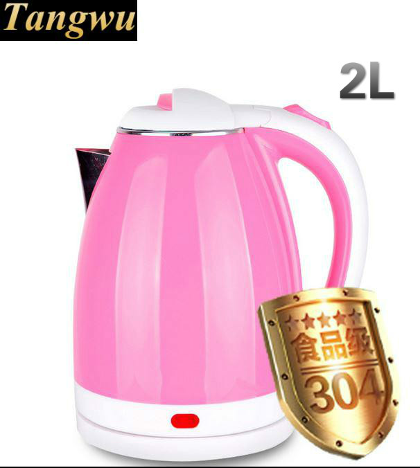 Double deck anti-burn boiler food grade 304 stainless steel electric kettle household 220v household 1 2l electric kettle food grade 304 stainless steel inner anti scald material fast boiling eu au uk plug