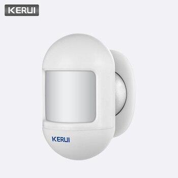 Kerui Nirkabel Mini Keselamatan PIR MOTION SENSOR Alarm Alert Detector Sistem Alarm Rumah Built-In Baterai dengan Magnetic Swivel Base