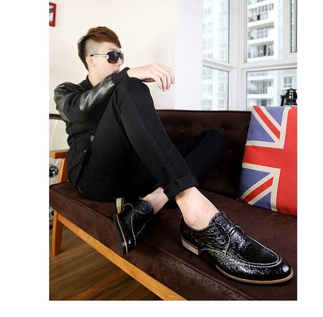Padrão Homens Bullock Britânico Alta Sapatos De Dos Vintage Masculinos Couro Dedo Black Teste Moda Casual Pé brown blue Qualidade Pontas Do Confortáveis Oxfords Fxd6w48q4