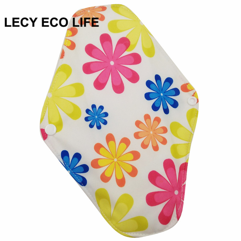 [Lecy Eco Life] Reusable lady light days cloth pads, waterproof pantyliner with bamboo charcoal inner, Feminine Hygiene Product 5